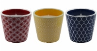 Patio Essentials Geometric Pattern Citronella Candle - Assorted
