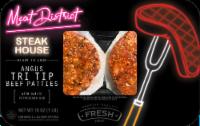 Meat District Garlic Peppercorn Rub Angus Tri Tip Beef Patties