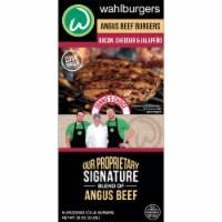 wahlburgers Bacon Cheddar & Jalapeno Angus Beef Burgers - 6 ct / 32 oz