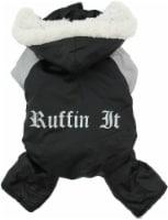 Doggie Design  Ruffin It  Winter Full Dog Snowsuit, Black and Gray, Small - 1