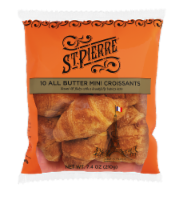 St Pierre French Bakery All Butter Mini Croissants 10 Count