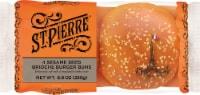 St Pierre Brioche Burger Buns with Sesame Seeds - 4 ct / 8.8 oz