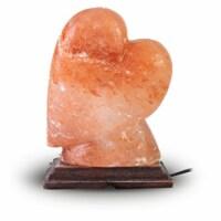 Natural Himalayan Pink Salt Lamp Heart Shape