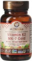 NutriGold Vitamin K2 MK-7 Gold Vegan Liquid Capsules 100 mcg - 60 ct