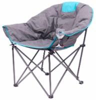 Creative Outdoor Folding Bucket Wine Chair - Gray/Teal - 1 ct