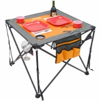 Creative Outdoor Folding Wine Table - Orange/Gray