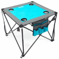 Creative Outdoor Folding Wine Table - Teal/Gray