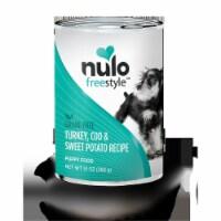 Nulo 811115 13 oz Freestyle Grain Free Turkey, Cod & Sweet Potato Recipe Puppy Food - Case of