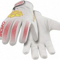 Hexarmor Leather Glvs,Hi-Vis Ylw/Red/White,L,PR - 1