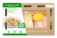 Home Chef Meal Kit Chicken Scampi Spaghetti With Lemon And Ciabatta Croutons