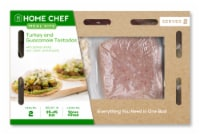 Home Chef Meal Kit Turkey and Guacamole Tostadas with Pickled Shallot Sour Cream and Chayote