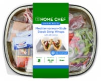 Home Chef Oven Kit Mediterranean Steak Strip Wraps with Tzatziki