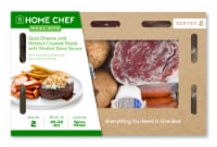 Home Chef Meal Kit Goat Cheese and Walnut Crusted Steak With Shallot Demi Sauce - 42 oz