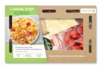 Home Chef Meal Kit Creamy Corn And Tomato Shrimp Campanelle With Parmesan Cheese