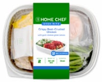 Home Chef Oven Kit Crispy Beet-Crusted Chicken With Goat Cheese Green Beans