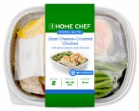 Home Chef Oven Kit Goat Cheese-Crusted Chicken With Green Beans and Almonds