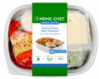 Home Chef Oven Kit French Onion Beef Meatloaf with Peas and Peppers Easy Prep & Pan Included