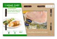 Home Chef Meal Kit Chicken Breast with Garlic Demi-Glace and Parmesan Asparagus Stovetop Cooking
