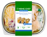 Home Chef Oven Kit BBQ Ranch Chicken Tacos with Crispy Jalapenos Easy Prep & Pan Included
