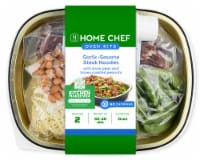 Home Chef Oven Kit Garlic-Sesame Steak Noodles With Snow Peas And Honey Roasted Peanuts