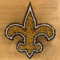 New Orleans Saints Team Pride String Art Craft Kit - 1 ct