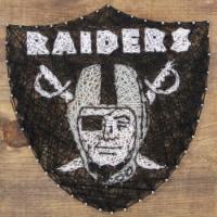 Las Vegas Raiders Team Pride String Art Craft Kit - 1 ct