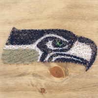 Seattle Seahawks Team Pride String Art Craft Kit - 1 ct
