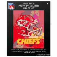 NFL Kansas City Chiefs Team Pride Paint by Number Craft Kit - 1 ct