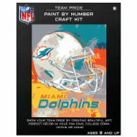 NFL Miami Dolphins Team Pride Paint by Number Craft Kit - 1 ct
