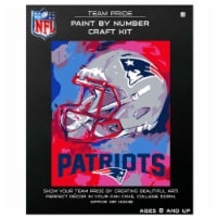 NFL New England Patriots Team Pride Paint by Number Craft Kit - 1 ct