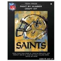 NFL New Orleans Saints Team Pride Paint by Number Craft Kit - 1 ct