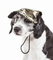 Pet Life HT3CMMD Torrential Downfour UV Protectant Adjustable Fashion Dog Hat - Camouflage, M