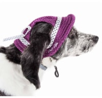 Pet Life HT10BUMD Sea Spot Sun UV Protectant Adjustable Fashion Mesh Brimmed Dog Hat Cap, Bur