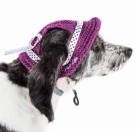 Pet Life HT10BULG Sea Spot Sun UV Protectant Adjustable Fashion Mesh Brimmed Dog Hat Cap, Bur