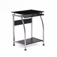 Tempered Glass Top Laptop Desk in Black - Hodedah - 1