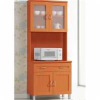 Hodedah HIK96 CHERRY Kitchen Cabinet - Cherry