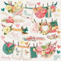 Simple Vintage Garden District Cardstock Stickers 12 X12 -Banners - 1