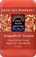 One With Nature Dead Sea Minerals Grapefruit Guava Soap