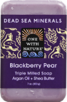 One With Nature Dead Sea Minerals Blackberry Pear Soap