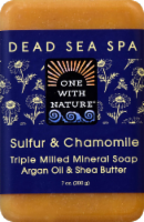 One With Nature Sulfur & Chamomile Soap
