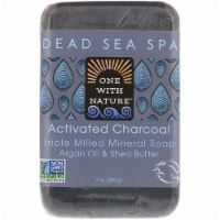 One With Nature® Activated Charcoal Triple Milled Mineral Bar Soap with Argan Oil & Shea Butter - 7 oz