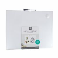 U Brands Aluminum Frame Magnetic Dry Erase Board - White/Silver