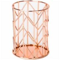 Wire Pencil Cup 1/Pkg-Copper - 1