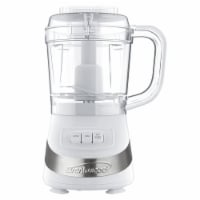 Brentwood FP-549W 3 Cup Food Processor, White