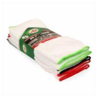 Turtle Wax Platinum Super Soft Microfiber Detailing Towels - White/Multi-Color Edges - 6 pcs