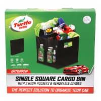 Turtle Wax Single Square Cargo Bin - Black - 12.7 x 12.7 x 12.7 in