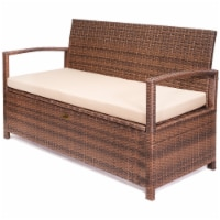 Outdoor All-Weather Deck Box Storage Bench Patio with Seat Cushion