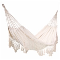 Portable Cotton Rope Camping Hammock Swing Hanging Bed Outdoor/Indoor - 1 Unit