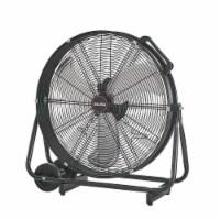 "24"" Rolling Drum Warehouse Floor Fan Shop Adjustable Speed, Black - 1 Unit"
