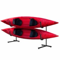 Sport Deluxe Freestanding Storage Kayak Rack Two Storage, Black